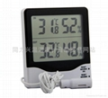 White Plastic Shell Digital Indoor Outdoor Thermometer Hygrometer  2