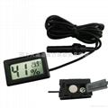 Mini Digital Hygrometer Thermometer Black