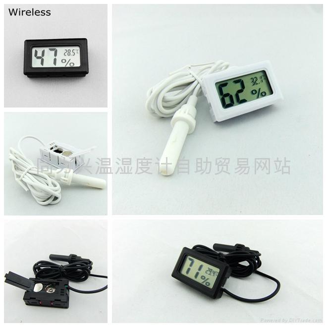 Mini Digital Hygrometer Thermometer Black  5