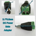 2.1*5.5mm DC Male Plug Power Adapter for CCTV Camera