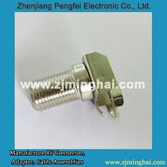F Female Right Angle 3 Pin Connector for PCB Mount