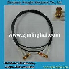 SMB母头弯式连接器接RG316连接线