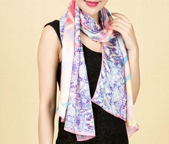 Silk Satin Long Scarf