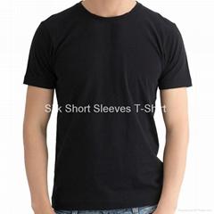 Silk short Sleeves T-Shirt for Men