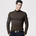 Silk High Neck Top for Men