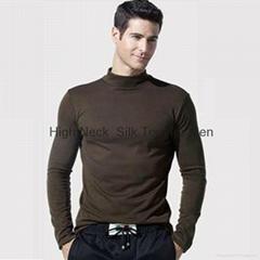 Silk High Neck Top for Men