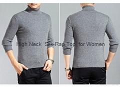 High Collar Silk Sweater for Men
