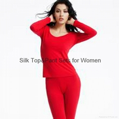 Silk Top&Pant Sets for Women