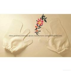 ayurvedic garshana 100% raw silk dry massage gloves
