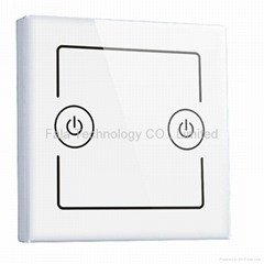 Two Gang Smart Wall Switch Of WiFi Home Automation Control By iPhone/Android