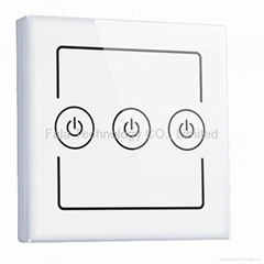 Three Gang wall switch of home automation system Control by iPhone/Android WiFi