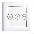 Remote curtain control switch of wifi home automation fala system