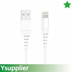 C48 3ft 6ft 9 ft Premium Double-Braided Nylon Lightning Cable