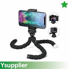Lightweight Large Universal Flexible Foam Mini Tripod with Universal Smartphone