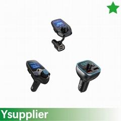 FM Transmitter, Bluetooth FM Transmitter Radio Adapter Car Kit with USB Car Char