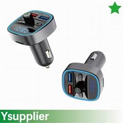 Car Driver Bluetooth FM Transmitter with Dual USB Port