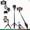 Selfie Stick Tripod,40 Inch Extendable Selfie Stick Tripod with Wireless Remote