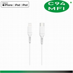 Apple MFi C94 Lightning to USB-C Cable (1 m)