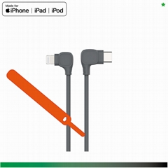TPE injection iphone cable, MFi C94 Lightning
