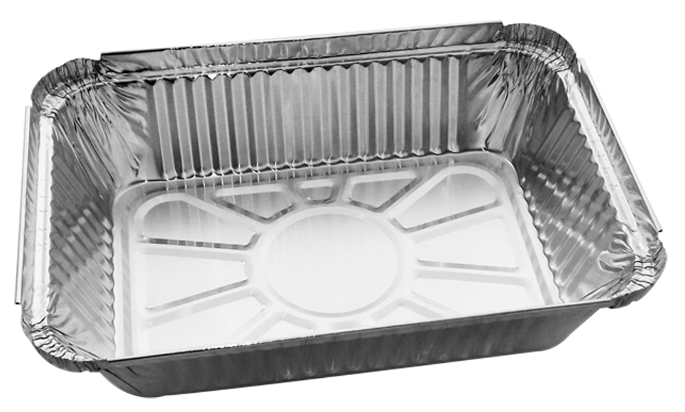 Disposable Aluminum Foil Container With Paper Board Lids