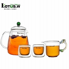 1050 ML Glass Tea Set Pyrex Heat Resistant Tea Pot