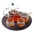 1050 ML Glass Tea Set Pyrex Heat Resistant Tea Pot 2