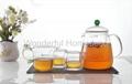 1050 ML Glass Tea Set Pyrex Heat Resistant Tea Pot 4