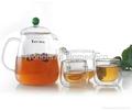 1050 ML Glass Tea Set Pyrex Heat Resistant Tea Pot 5