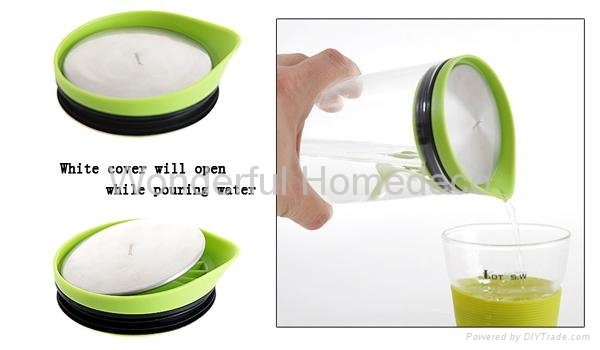 1000ML High quality Pyrex Mouth Blown Glass carafe 3