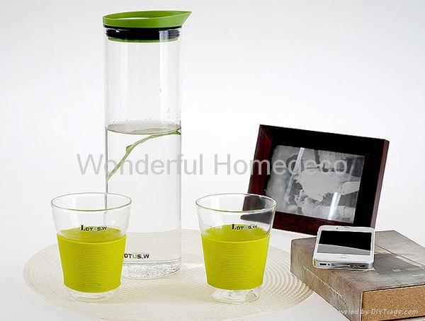 1000ML High quality Pyrex Mouth Blown Glass carafe 4