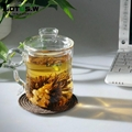 380ml Hi-borosilicate Glass Tea Cup and Pot in One for Personal Usage 3