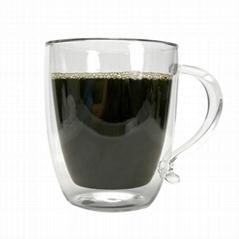 Double Wall Borosilicate Glass 16 Ounce Glass Coffee Mug