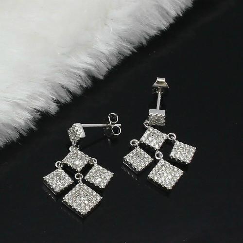 梦幻时尚925银镶锆石耳环 1