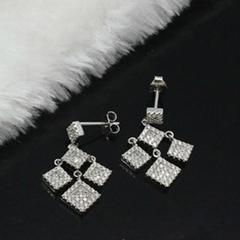 梦幻时尚925银镶锆石耳环