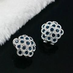 经典时尚925银镶锆石耳环
