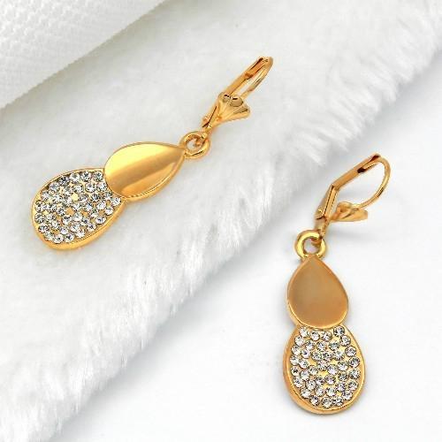 高贵时尚925银镶锆石耳环 1