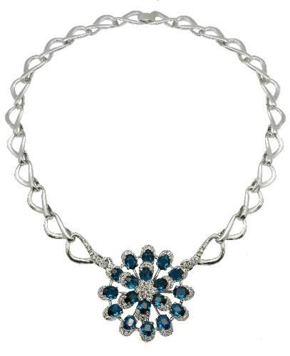 幻想时尚925银镶锆石项链 1