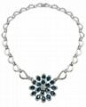 幻想时尚925银镶锆石项链