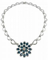 幻想時尚925銀鑲鋯石項鏈