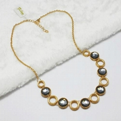 TRANDITIONAL FASHION JEWELRY SI  ER925 WITH ZIRCON STONE GOLD PLATED