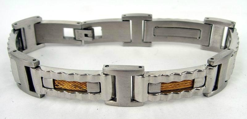 Men hinge stainless steel bracelet 1