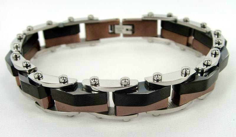 Men hinge stainless steel bracelet 2