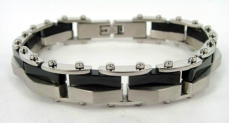 Men hinge stainless steel bracelet 3