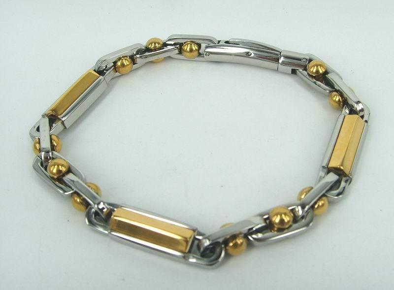 男士铰链不锈钢手链 5