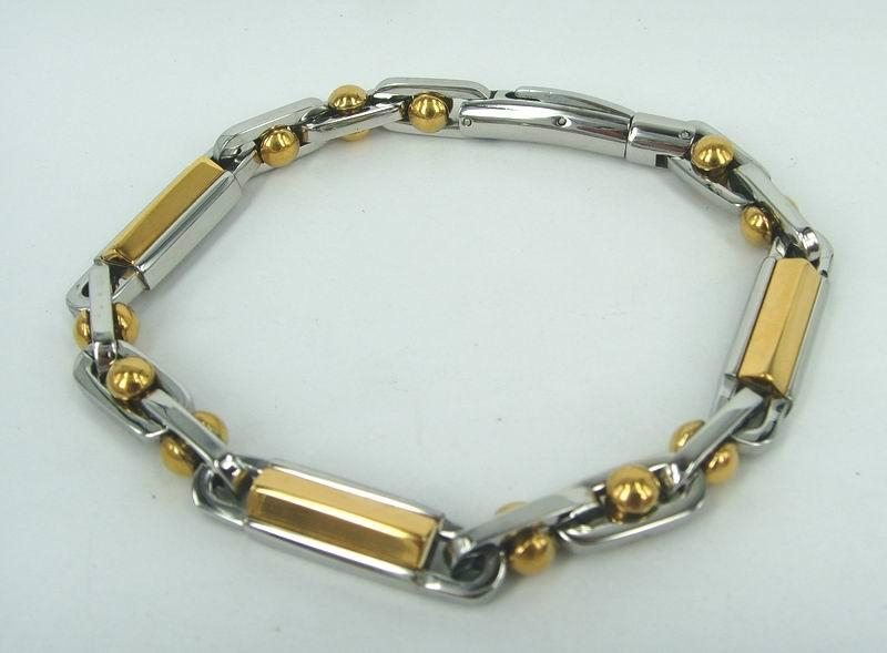 Men hinge stainless steel bracelet 5