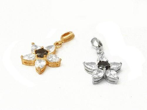 可爱花朵时尚925银镶锆石吊坠 4