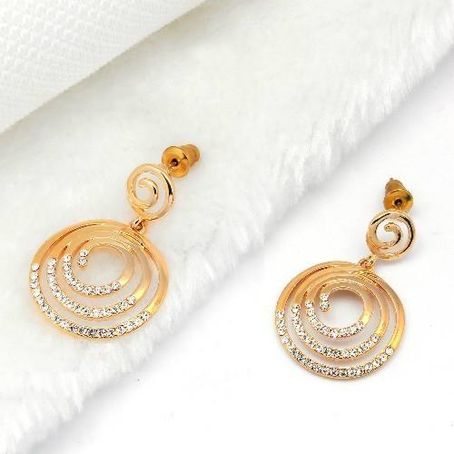 高贵时尚925银镶锆石耳环 2
