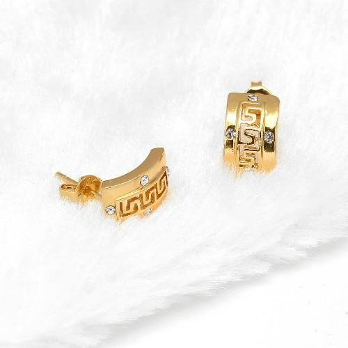 高贵时尚925银镶锆石耳环 3
