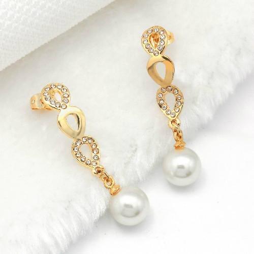 高贵时尚925银镶锆石耳环 4