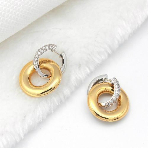高贵时尚925银镶锆石耳环 5